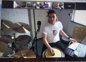 Online Lessons Keep Liberty Drumming